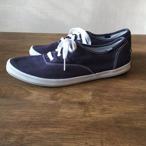 Classic Keds Navy Canvas Lace up Sneaker 8